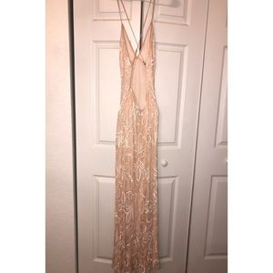 Light pink beaded Scala gown